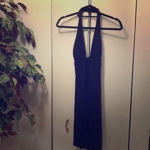 Guess black halter dress